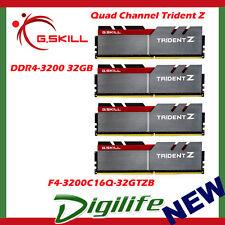 G.Skill DDR4 32GB 4x8GB 3200Mhz Quad Channel Trident Z F4-3200C16Q-32GTZB
