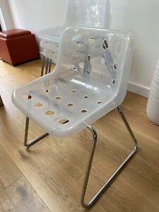 4x Robin Day Loft Dining Chairs