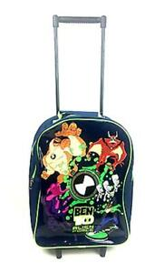 Ben 10 Alien Force Cabin Hand Luggage Travel Holiday Trolley Wheel Wheeled Bag