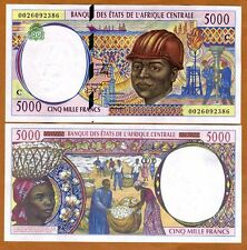 Central African States, Congo, 5000 francs, 2000, P-104Cf, UNC