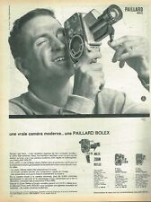 K- Publicité Advertising 1962 La Camera Paillard Bolex Zoom Reflex