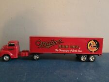 Miller high life beer girl on the moon semi truck ertl coin bank toy diecast
