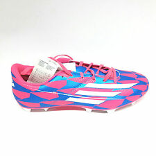 Adidas F5  FG Fußballschuh Soccer Schuhe Fußball Gr.41/42 UK 7,5 rot blau Nocken