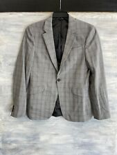 NEW! TOPMAN 87J46PGRY Ultra Muscle Fit Check Suit Jacket Blazer, 38R - Grey