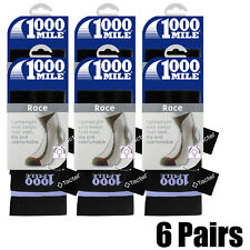 6 Pairs Ladies Small Black 1000 Mile Tactel Sports Running Race Gym Workout Sock