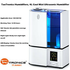 TaoTronics Humidifier Tt-Ah001 4L Ultrasonic Cool Mist - Quiet, Led Display Di17