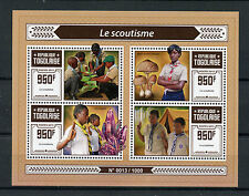 Togo 2015 MNH Scouting 4v M/S Scouts Scoutisme Plants Mushroom Amethyst Stamps