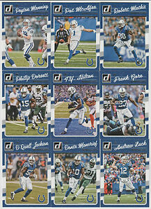 2016 INDIANAPOLIS COLTS 40 Card Lot w/ DONRUSS Team Set 20 CURRENT Players