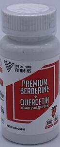 Premium Berberine + Quercetin (60 Capsules)