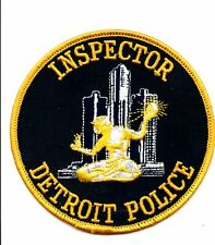 POLICE PATCH INSPECTOR CITY of DETROIT MICHIGAN