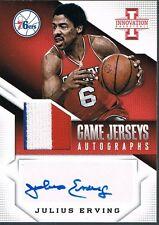 2013-14 Panini JULIUS ERVING Innovation Game Jerseys Autographs Prime Patch 7/10