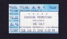 1990 The Cult Concert Ticket Stub Sonic Temple Columbus Ohio