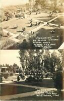 Bellflower California Campus Picnic Bosco Boys 1940s RPPC Photo Postcard 5795