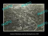 OLD LARGE HISTORIC PHOTO LUNTEREN NETHERLANDS HOLLAND TOWN AERIAL VIEW c1940 1