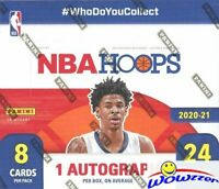 2020/21 Panini Hoops Basketball MASSIVE 24 Pack Sealed Retail Box-AUTO+192 Cards