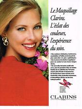 PUBLICITE ADVERTISING 084  1992  CLARINS  cosmétiques  maquillage