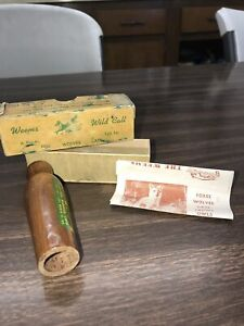 Vintage Weems Wild Call Coaxer Game Call box w/ directions / Nice Condition