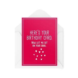 Funny Birthday Cards   Husband Card   Boyfriend Cheeky Rude Sexy For Him CBH512