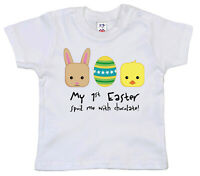 Dirty Fingers, My 1st Easter, spoil me chocolate!, Baby Unisex T-shirt Gift