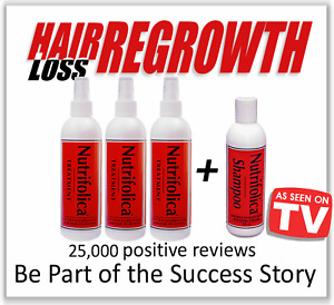6 MONTH NUTRIFOLICA TREATMENT HAIR LOSS REGROWTH GROWTH DHT RECEDING BALDNESS