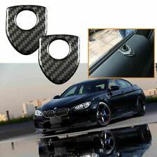2pcs Carbon Fiber Door Lock Knob Trim Decals Sticker For BMW 1 3 5 7 X1 X3 X5