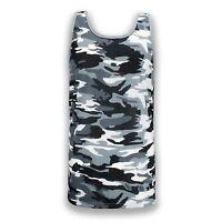 NEW Men Army Camo Black White Gray Size S-2XL Tank Top Shirt Sleeveless