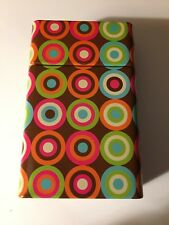 Multi-Colored Circles Metal Tin Kings Cigarette Case Nwt