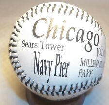 Chicago Baseball Ball WRIGLEY FIELD JOHN HANCOCK SEARS TOWERS GIFT CUBS CITY