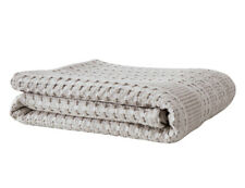 PHF Cotton Bed Blanket Waffle Weave Khaki Breathable for Winter Twin Queen King
