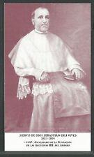 estampa del Siervo Sebastian santino holy card image pieuse