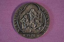 Medaille Silber Deutschland Bayern Franken Nürnberger Weihnacht 1978 Nürnberg