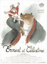Affiche 120x160cm ERNEST ET CÉLESTINE (2012) B. Renner film d'animation TBE
