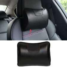 For Mazda Universal Ergonomic Genuine Leather Auto Car Headrest Pillows