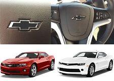 Matte Black Steering Wheel Bowtie Vinyl Emblem For 2012-2015 Chevrolet Camaro