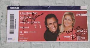 ORIGINAL Autogramm von Al Bano & Romina Power. 100% ECHT. Signiertes Ticket. RAR