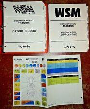 Kubota B2630 B3030 B3030-Cab Tractor Service Repair Workshop Manual Original!