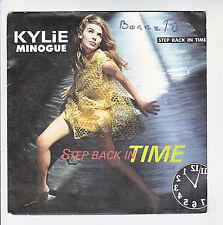 "Kylie MINOGUE Vinyl 45T 7"" STEP BACK IN TIME - CBS 656493 F Rèduit RARE"