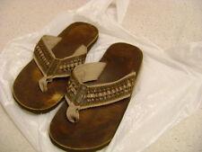 Reef leather Smoothy Bronze Flip Flops 9