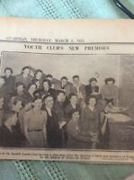 A2-3 Ephemera 1943 Picture St Austell Youth Club Tregonissey