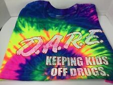 D.A.R.E Keeping Kids Off Drugs Acid Washed t-shirt large ty dye           T6