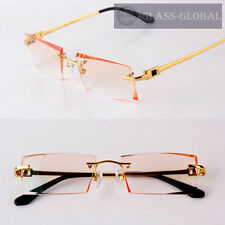 Custom-made TITANIUM Cutting lens EYEGLASSES Eyewear Frames Glasses Diomand