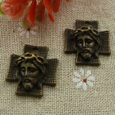 Free Ship 60 pieces Antique bronze Jesus charms 24x22mm #1115