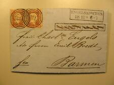 1854 Emil Engels [Bruder v. Friedrich ] Brief a Charlotte E.geb. Bredt Autograph