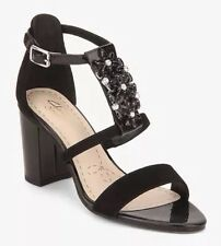 New🌹Clarks🌹Size 7.5 Demerara Swirl Black Suede Patent Leather Sandals 41.5 EU