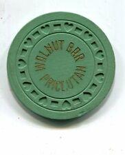 WALNUT BAR PRICE UTAH GAMBLING CHIP  1934-1949