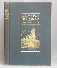 Antique ISLES OF SHOALS HYMN BOOK & CANDLE LIGHT SERVICE w/ EPHEMERA & POSTCARDS
