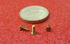 Brass Flat Head Machine Screw Slotted M2 x 0.4 x 6mm Length, 50 pcs
