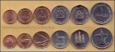 B-D-M Emiratos Arabes Set 1 5 10 25 50 Fils 1 Dirham 1993-2012 KM 1-6 SC- aUNC
