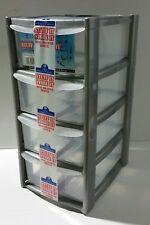 New 4 Tier Tower Storage Box Makeup Organiser Kitchen Storage Garage School