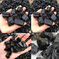 50g Black Natural Tourmaline Crystal Rough Rock Stone Mineral Specimen DIY Craft